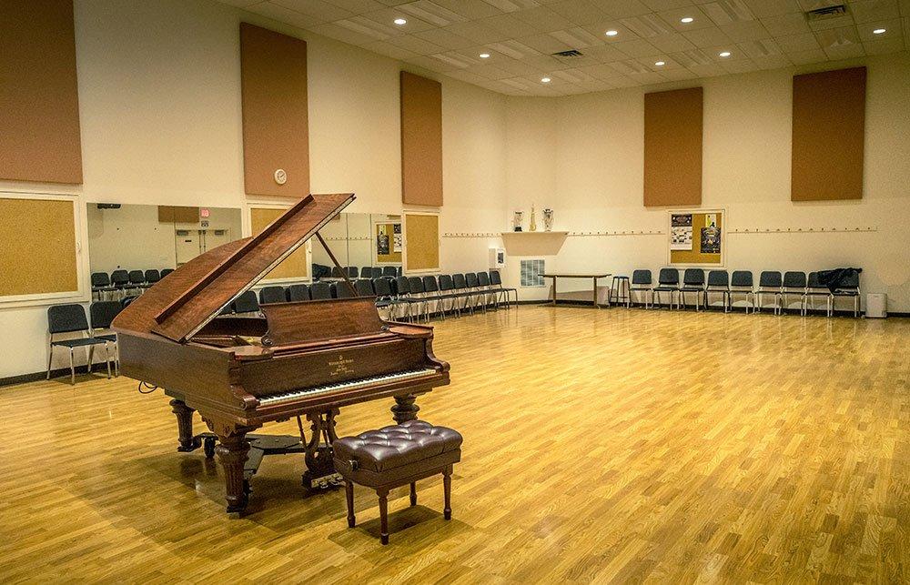 MAC Main Rehearsal Room with Piano