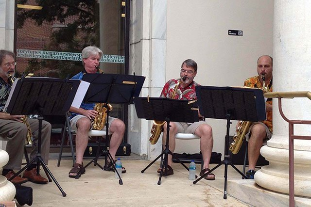 Saxophone Ensemble at Central Library